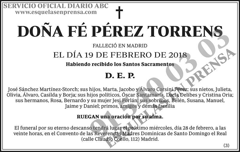 Fé Pérez Torrens